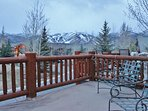 Balcony of Park City Serenity - Park City located off of kitchen with a gas grill.