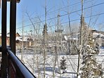 View from private deck - True ski-in/out at Deer Valley Resort