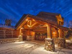 Exterior front driveway and garage entry - Deer Valley Majestic Mansion