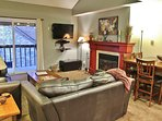 Living room with access to private deck in Snowblaze 309 - Park City