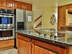 Park City Lowell Estate kitchen with granite counters