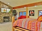 Park City Lowell Estate Master bedroom with king bed and queen sofa sleeper