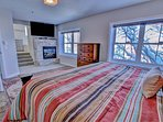 Park City Ontario Manor-Master Bedroom with Kind bed and attached bathroom