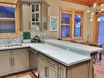Highly upgraded kitchen with granite counters, stainless appliances, and all the Chef's supplies- Park City Resort...