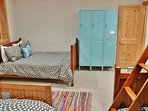Bunk room with twin over full bunk, full bed and twin bed- Park City Resort Estate