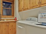 Laundry room with full size washer/dryer- Park City Resort Estate