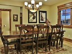 Dining areas of Badgerland - Park City. Amazing gourmet display kitchen with Sub Zero, Wolf stove, granite counters...