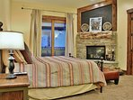 Master Bedroom of Badgerland - Park City. Grand master bedroom suite with king bed, gas fireplace, HD TV/DVD, private...