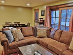 Family Area of Badgerland - Park City. Mid-level media/family room with 6-seat gaming table, large HD TV, DVD, and...