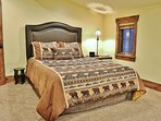 4th Bedroom of Badgerland - Park City. Second master bedroom with queen bed, HD TV, and private full bathroom