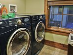 Laundry Room of Badgerland-  with full washer and dryer