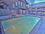 Heated pool and firepit at Snowblaze - Park City