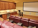 Private theater room at Lookout 12 - Deer Valley