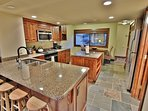Kitchen with stainless steel appliances and granite counter tops in Park City Racquet Club Village - Park City
