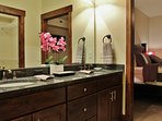 Park City Black Rock Ridge-Master Bathroom with double sinks and soak tub - Park City