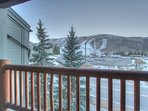 View of Park City Mountain Resort from Living Room Balcony