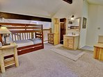 Loft with Twin over Twin Bunk and Twin Trundle, 32' HD Smart TV and Private Bath