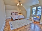Upper level master with queen bed and full bathroom