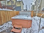 6-seat private hot tub in back yard