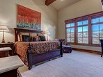 Grand Master with King Bed, 55' TV, Fireplace, Private Bath