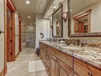 Grand Master Bath with Dual Sinks, Shower, Jetted Tub