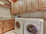 Laundry with Bosch Washer and Dryer