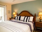 Master bedroom has pillow-top mattress, quality linens, ensuite bath, private balcony, A/C and HDTV
