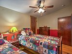 The other bedroom offers 2 twin-sized beds!