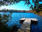 Enjoy your own private dock on the Pond- no beach area but easy access to launch a canoe or kayak - bring your own or...