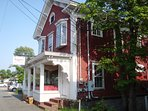 Grab breakfast or lunch at Ruggies in the town center - just .3 mile from the house! - Harwich Cape Cod New England...