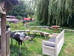 BBQ and garden seating area