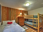 The kids will love choosing between the top and bottom bunk of the twin-over-twin bunk bed!