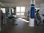 Gym on the 18th floor of the Paraguay tower