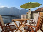 From the huge private terrace you have stunning views of both the Alps and Lake Como.