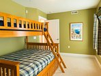 3rd Bedroom with Twin-full Bunk bed and Twin Trundle bed