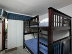 Full size bunk beds plus single trundle, great for the kids!