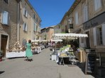 Thursday is market day in Goult