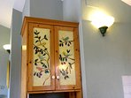 Hand-painted custom-made kitchen cabinet