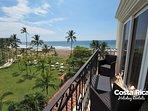 Side terrace, ocean views