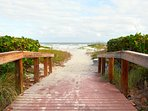 Private beach walkway
