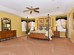 The 'sunshine' super king master bedroom on the 1st floor with walk in closet