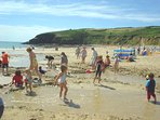 This is Praa Sands, a safe haven for all kids with lots to do all day, cafe and restaurant too.
