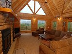 Remarkable, custom log home, Deer Run Lodge, just minutes from Canaan Valley!