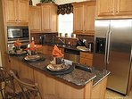 Kitchen with stainless and granite