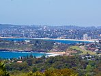 Beautiful ocean views from the rooftop deck from Bilgola to Manly