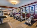 Fully Equipped Gym with Locker Rooms and Saunas