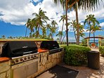 Grill your meals on the barbeques by the pool