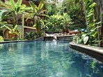 Hotel sized lagoon pool with 2 waterfalls, excellent for the entire family.