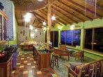 The amazing Great Room as you enter this vacation villa in Manuel Antonio