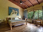 King bedroom on the main level with huge jungle view beautifully decorated